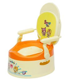 Harry & Honey Potty Chair 1803 - Cream Orange Yellow