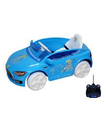 Wheel Power Musical Battery Operated Ride On Car - Blue