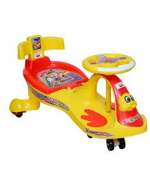 Harry & Honey Swing Car With Support 7811 - Yellow