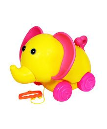Anand Pull Along Toy Smily Elephant - Multi-Color