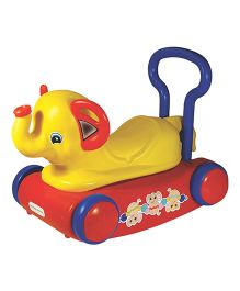 Girnar Elephant Rocker 3 In 1 Jumbo - Red And Yellow (Colors May Vary)