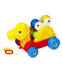 G Angad Horse Rattling Pull Along Toy - Multi-Color (Colors May Vary)