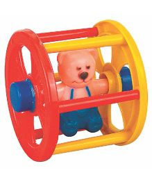 Super Rolling Teddy Roller Toy - Red Yellow