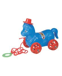 Sharda Rolling Horse Pull Along Toy  Multi-Color