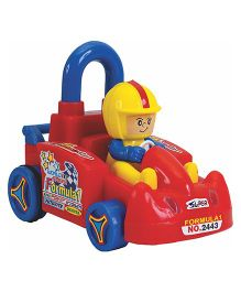 Super Cart Push N Go Car Toy - Red Yellow Blue