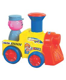 Super Push N Go Loco Toy - Yellow Blue Red