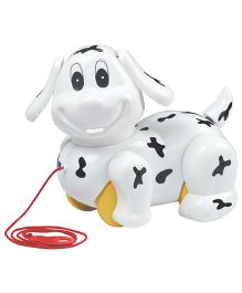 Super Naughty Doggy Pull Along Toy - White