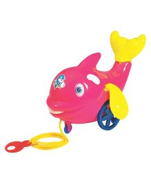 Super Pulling Dolphin Pull Along Toy - Pink