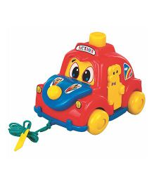 Super Action Pull Along Car - Red