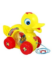 U.A. Pull Along Duck Toy - Multi-Color (Colors May Vary)