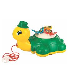 U.A. Pull Along Toy Turtle And Butterfly - Multi-Color (Colors may Vary)