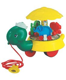 U.A. Pull Along Toy Freedy Turtle - Multi-Color ( Colors May Vary)