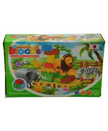 Magic Pitara Zoo Blocks Set 26 Pieces - Multicolor