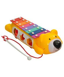 Magic Pitara Teddy Music Maker Xylophone - Yellow