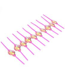 Barbie Party Straw Pack Of 10 - Dark Pink