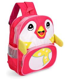 Bird Face Printed School Bag Pink - 12 Inches
