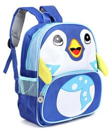 Bird Face Printed School Bag Blue - 12 Inches