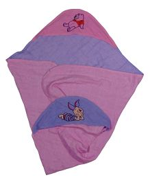 MK Handicraft Baby Hooded Wrapper - Pink Purple