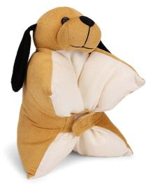 IR Folding Pillow Puppy Design - Brown White
