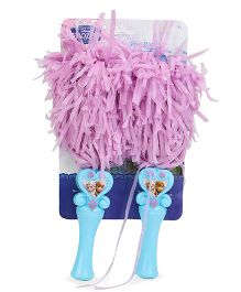 Disney Frozen Pom Poms Pack Of 2 - Blue & Pink
