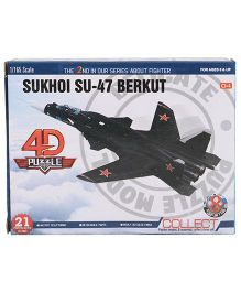 Collect Fighter Planes Sukhoi SU 47 Berkut Black - 21 Pieces