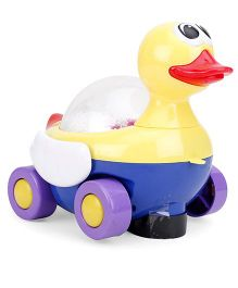 Battery Operated Pull Along Musical Duck - Yellow