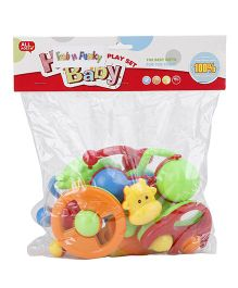 Fab N Funky Rattle Set Pack Of 8 - Multi Color
