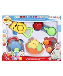 Fab n Funky Rattle Set Pack Of 5 - Multicolor
