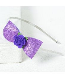 Aayera's Nest Sofia Glitter Bow Hairband - Purple