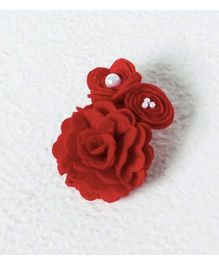 Aayera'S Nest Cluster Rose Wristband - Red