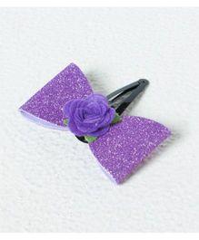 Aayera'S Nest Sofia Glitter Bow Clip - Purple