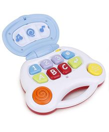 Baby Musical Learning Laptop - White Blue