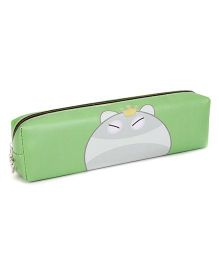 Zippered Pouch Animal Face Print - Green