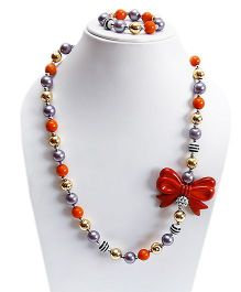 D'Chica Beads & Bows Jewelry Set - Multicolour