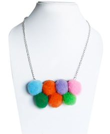 D'Chica Stylish And Chunky Pom Pom Pendant Jewelry - Multicolour