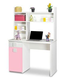 Alex Daisy Orlando Study Table - Pink White
