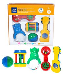 Mee Mee Infant Rattle Set - 5 Pieces (Color May Vary)