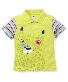 Zero Half Sleeves Printed T-Shirt - Lemon Green