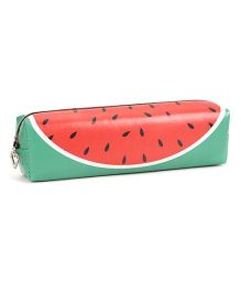 Pencil Pouch Water Melon Print - Red Green