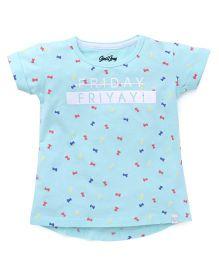 Gini & Jony Half Sleeves T-Shirt Friday Print - Blue
