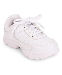 Force 10 School Shoes Lace Up - White