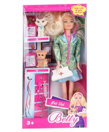 Smiles Creation Betty Doll Pet Doctor Theme Set - Green