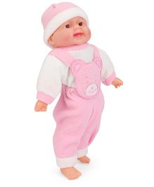 Smiles Creation Laughing Doll Pink White - 34 cm