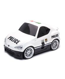 Wellitec Pull Along Toyota 86 Police Car Trolley Bag White - 19 Inches