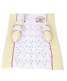 Babyoye Gadda Set 3 Pieces Stars Print - Yellow White