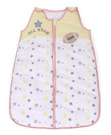 Babyoye Sleeping Bag All Star Print - Yellow White
