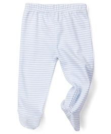 Babyhug Striped Bootie Leggings - Blue