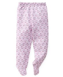 Babyhug Bootie Leggings Allover Kitty Print - Pink