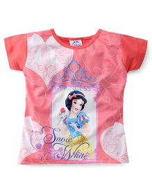 Eteenz Short Sleeves Top Snow White Print - Peach