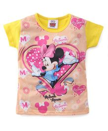 Eteenz Short Sleeves Top Minnie Mouse Print - Yellow
